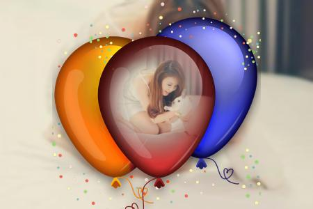 Balloons photo frame