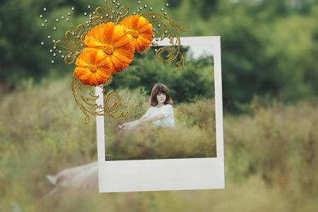 Flower photo frame 2