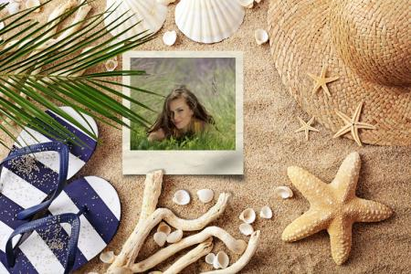 Sand Beach Photo Frame