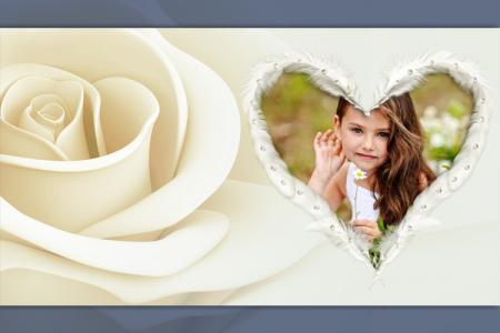Beautiful heart roses frame