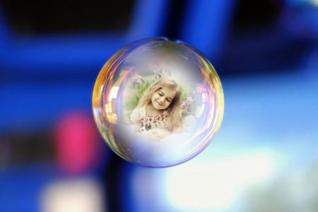 7-color bubble photo frame