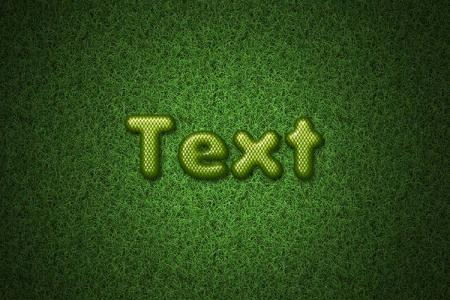 Green Snake Skin Text Effect