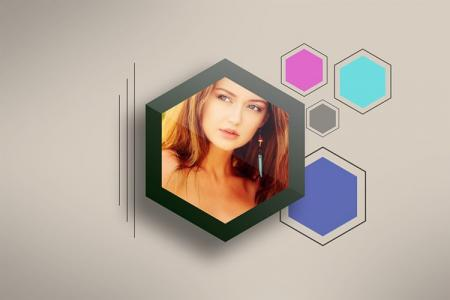 Photo Frame Hexagon