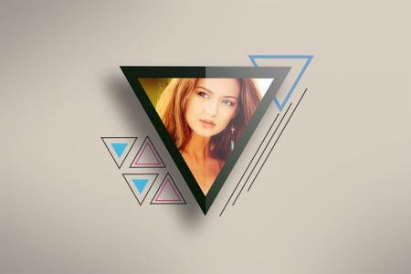 Photo Frame Triangle