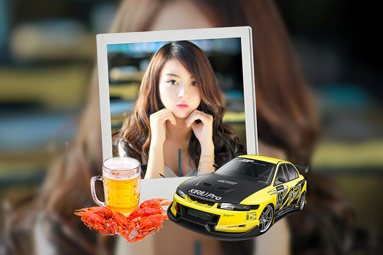 Car photo frame