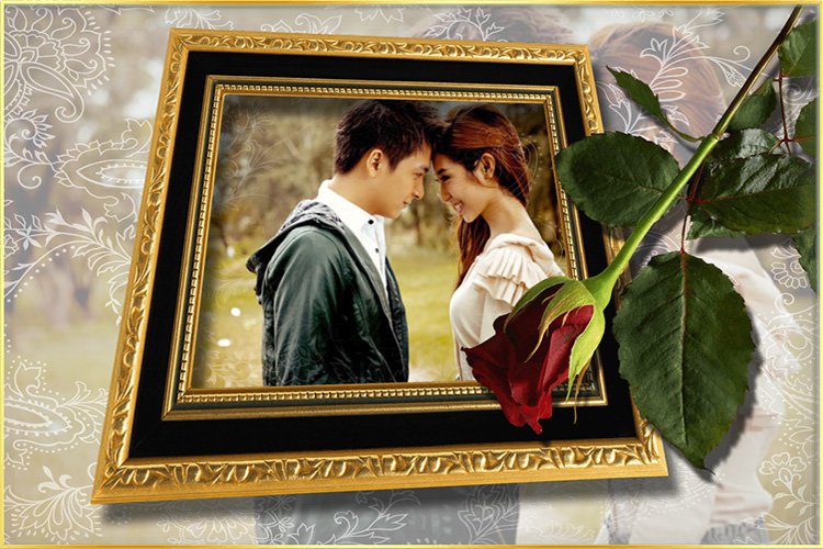 Photo frame with Rose