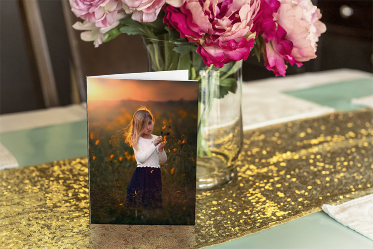 Photo frame greeting card