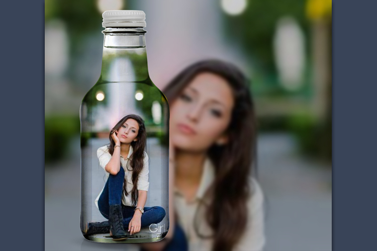 Photo Collage in bottle