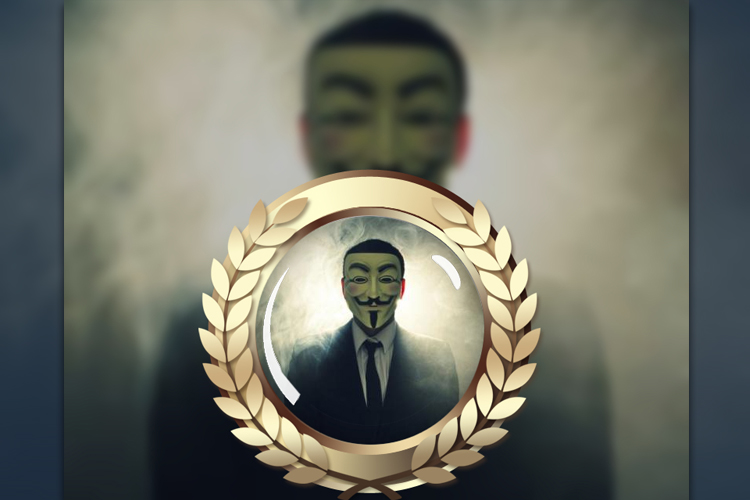 Anonymous logo photo frame