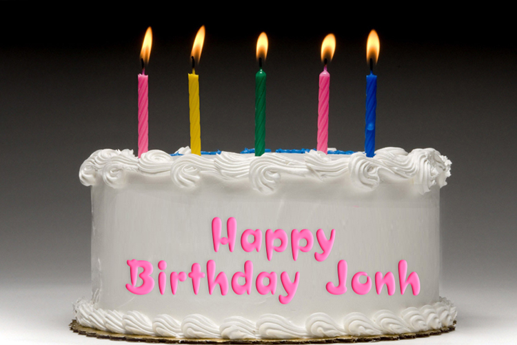 Write A Greeting On The Birthday Cake