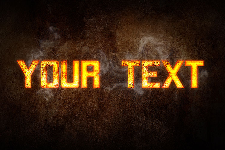 Red Hot Metal Text Effect