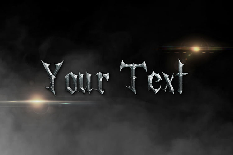 Cool Metal Text Effect