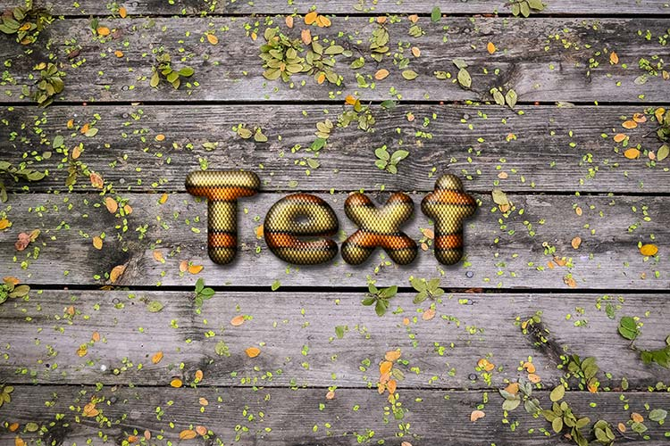 Orange Snake Skin Text Effect