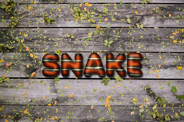 Snake Skin Text Effect