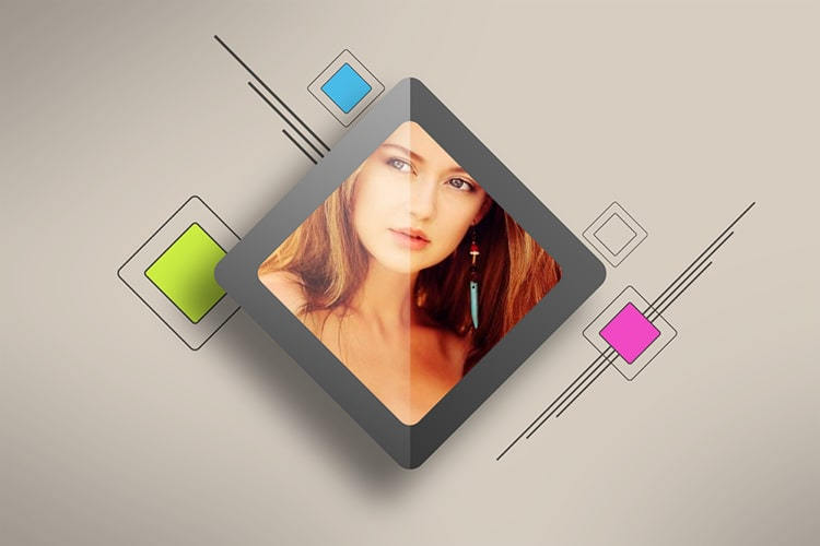 Photo Frame Rhombus