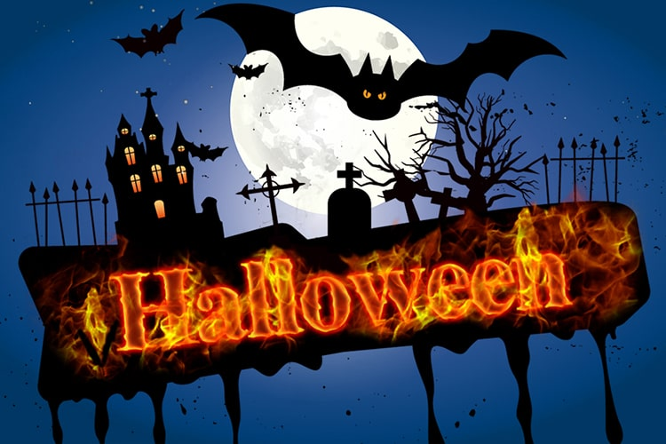 Create Halloween Fire Text Effect