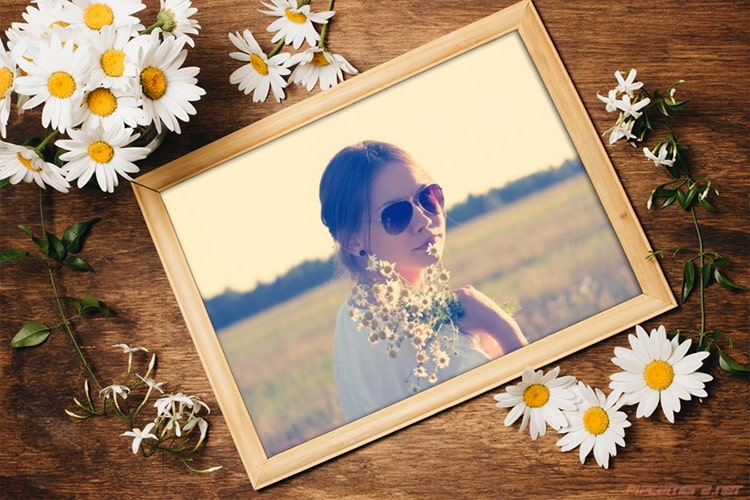 Create Spring Flower Photo Frame
